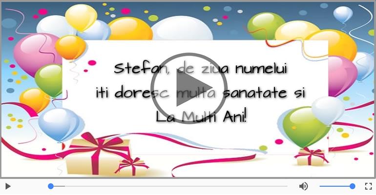 Felicitari muzicale de Sfantul Stefan - La multi ani de Sfantul Stefan!