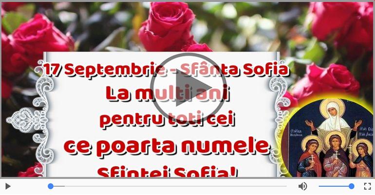 Felicitari muzicale de Sfânta Sofia - La mulți ani, Sofia!