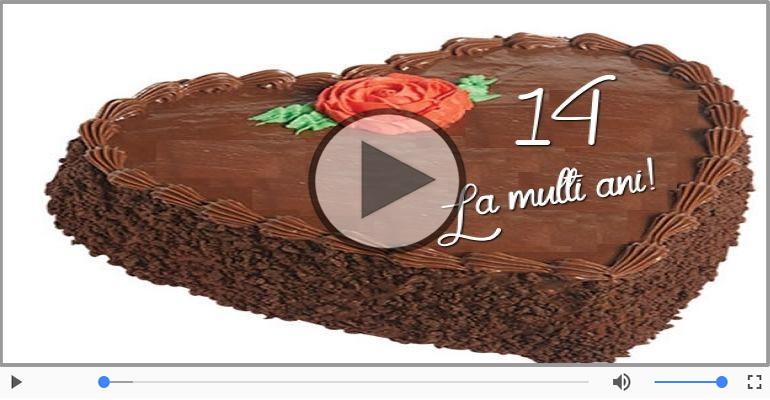 Felicitari muzicale Pentru 14 ani - 14 ani, La multi ani!