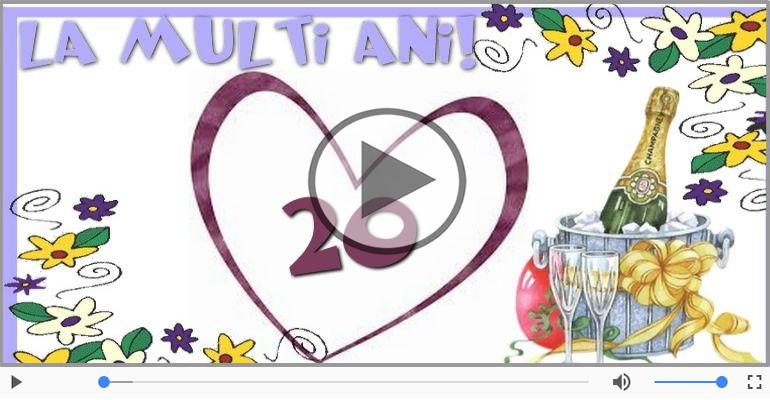 Felicitari muzicale Pentru 20 ani - La multi ani 20 ani! Melodia: La multi ani versiunea originala!