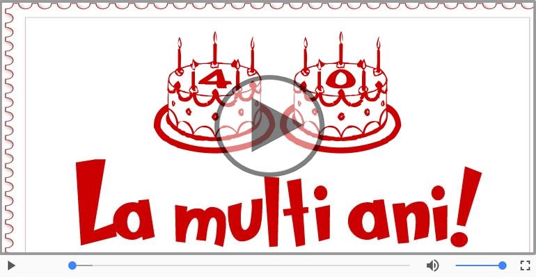 Felicitari muzicale Pentru 40 ani - Happy Birthday, 40 ani!