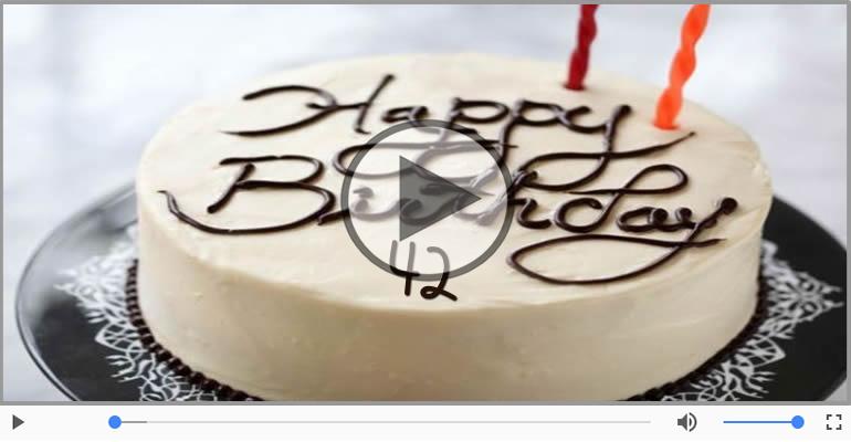 Felicitari muzicale Pentru 42 ani - 42 ani, La multi ani!