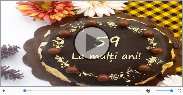 Felicitari muzicale Pentru 59 ani - La multi ani 59 ani! Melodia: La multi ani versiunea originala!