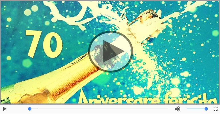 Felicitari muzicale Pentru 70 ani - 70 ani, La multi ani!