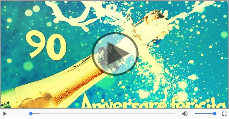 Felicitari muzicale Pentru 90 ani - La multi ani, 90 ani!