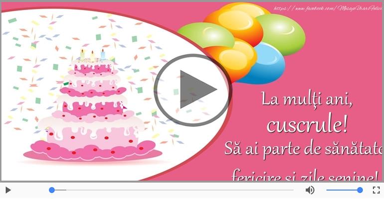 Felicitari muzicale de zi de nastere - La multi ani, Cuscru!