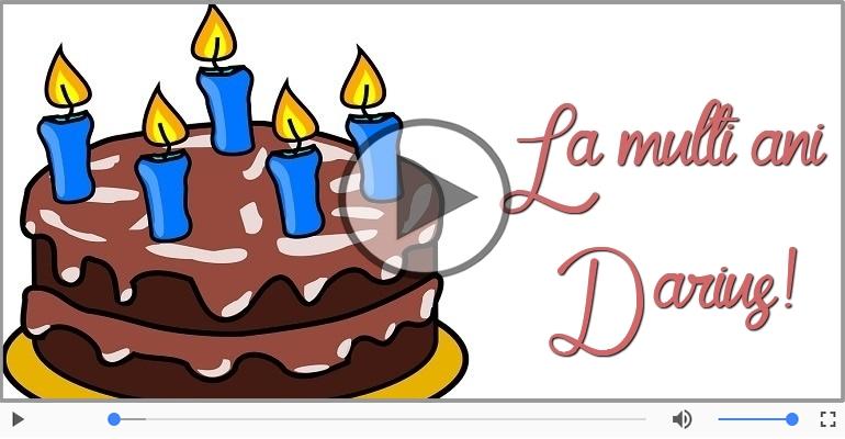 Felicitari muzicale de zi de nastere - La multi ani cu sanatate, Darius!