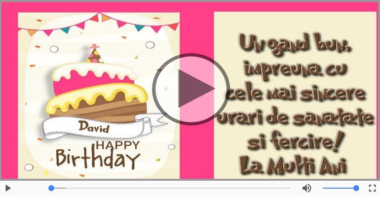 Felicitari muzicale de zi de nastere - La multi ani, David!