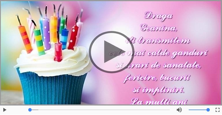 Felicitari muzicale de zi de nastere - La mulți ani, Geanina!