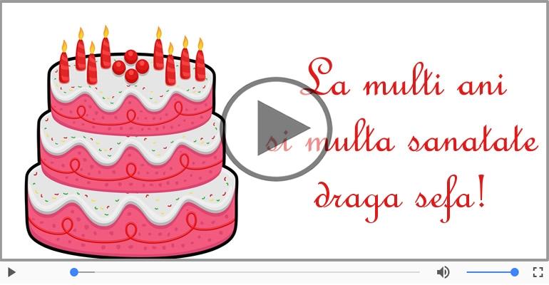 Felicitari muzicale de zi de nastere - Felicitare muzicala de zi de nastere - La multi ani, Draga sefa!