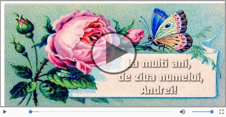 Felicitari muzicale de Ziua Numelui - La multi ani, Andrei!