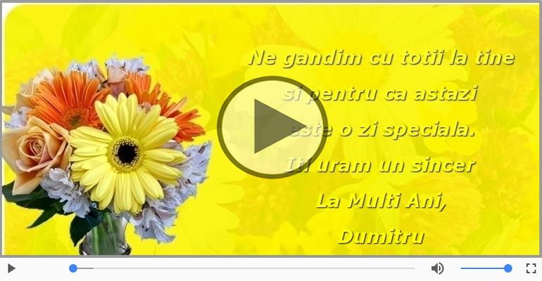 Felicitari muzicale de Ziua Numelui - La Multi Ani, Dumitru