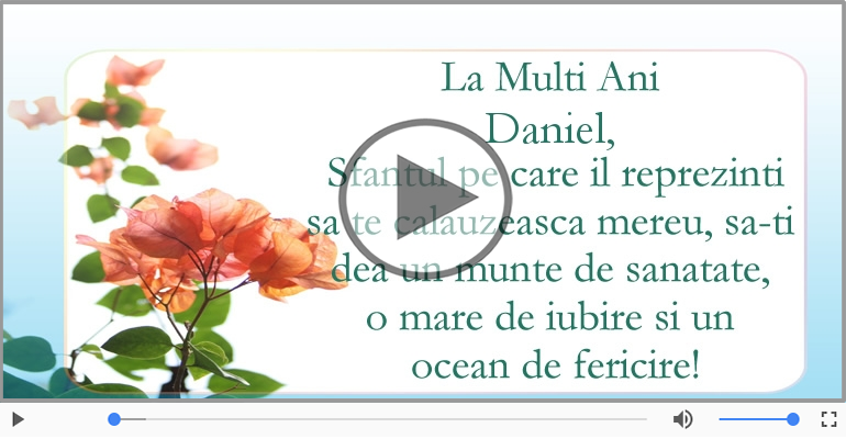 Felicitari muzicale de Ziua Numelui - La multi ani, de ziua numelui Daniel!