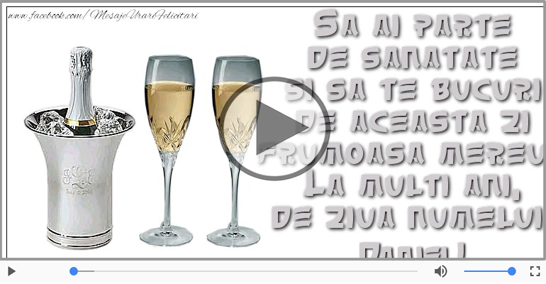Felicitari muzicale de Ziua Numelui - La multi ani, Daniel!
