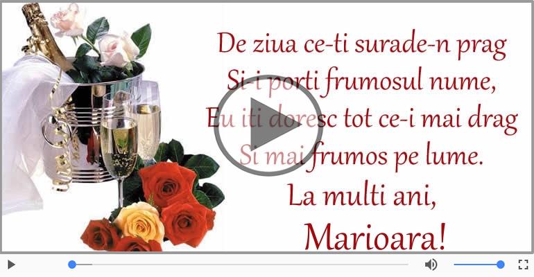Felicitari muzicale de Ziua Numelui - Felicitare muzicala de ziua numelui pentru Marioara!