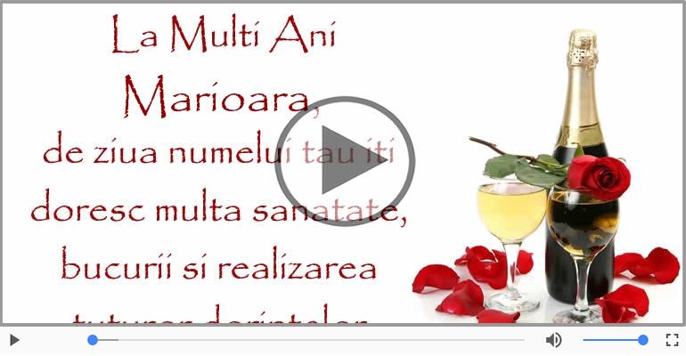Felicitari muzicale de Ziua Numelui - Marioara, La multi ani de ziua numelui!
